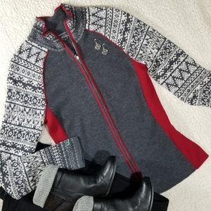 Eddie Bauer Merino Wool Zip Cardigan